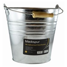 BLACKSPUR - GLAVANISED STEEL BUCKET - 10 LITRE