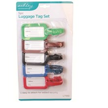 ASHLEY - LUGGAGE TAG SET - 5 PACK