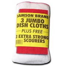 SAMSON 3PK DISH CLOTHS AND SCOURERS SET