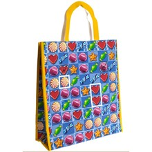 CANDY GAME WOVEN SHOPPING BAG 16 X 18 X 6""