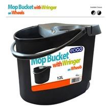 EDGO - MOP BUCKET WITH WRINGER ON WHEELS