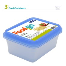EDGO - FOOD2GO 750ML FOOD CONTAINER SET - 3 PACK