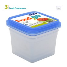 EDGO - SQUARE FOOD CONTAINER 750ML - 3 PACK
