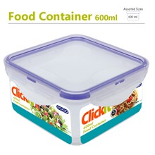 EDGO - CLICKIT 600ML SQUARE FOOD CONTAINER