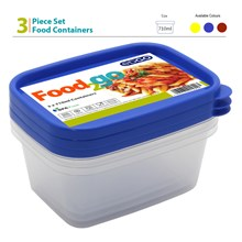 EDGO - FOOD2GO 3PC FOOD CONTAINERS