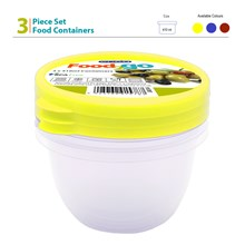 EDGO - 410ML FOOD CONTAINER SET - 3 PACK
