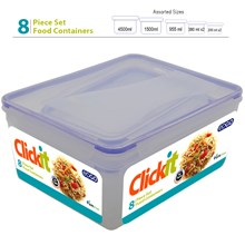 EDGO CLICKIT 8PC FOOD CONTAINER SET