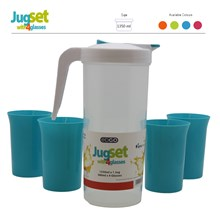 EDGO - JUG SET WITH 4 GLASSES