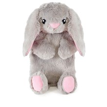 PLUSH HOT WATER BOTTLE - GREY BUNNY