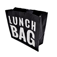 WOVEN LUNCH BAG - BLACK AND WHITE