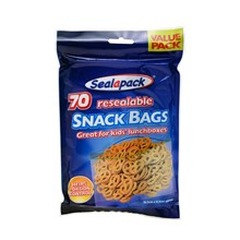SEALAPACK - RESEALABLE SNACK BAGS - 70 PACK