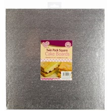 """QUEEN OF CAKES - SQUARE CAKE BOARDS - 10"""" X 10"""""""