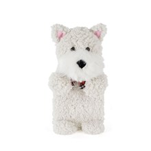 HOT WATER BOTTLE WHITE SCOTTY DOG