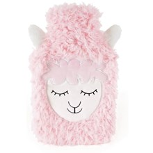2L HOT WATER BOTTLE SHEEP FACE PINK