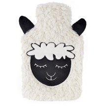 2L HOT WATER BOTTLE SHEEP FACE WHITE