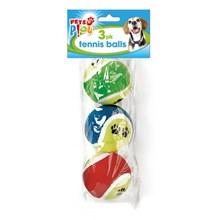 PETS PLAY - TENNIS BALLS - 3 PACK