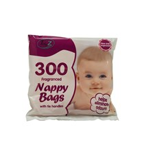TIDYZ - FRAGRANCED NAPPY BAGS - 300 PACK