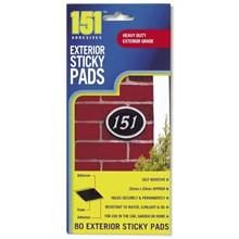151 - EXTERIOR STICKY PADS - 80PC