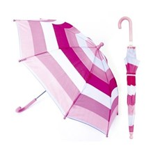 KIDS STRIPED UMBRELLA - PINK