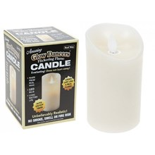 FLICKERING FLAME LED CANDLE - 7.5CM X 12.5CM