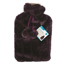 HOT WATER BOTTLE - 2L PLUSH PURPLE