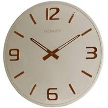 HENLEY METAL WALL CLOCK - 40CM CREAM-ROSE GOLD
