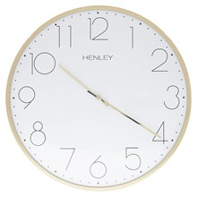 HENLEY METAL WALL CLOCK - 40CM WHITE GOLD