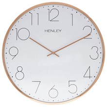 HENLEY METAL WALL CLOCK - 40CM WHITE ROSE GOLD