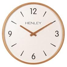 HENLEY WALL CLOCK - 30CM WOODEN TEXTURED WEAVE