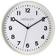 HENLEY WALL CLOCK - 30CM PLASTIC IVORY