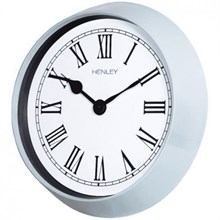 HENLEY WALL CLOCK - 35CM METAL PORTHOLE - SLATE