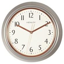 HENLEY WALL CLOCK - 30CM METAL - GREY-ROSE GOLD