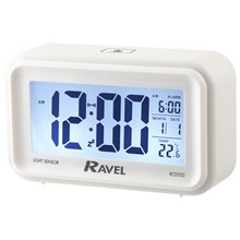 RAVEL - JUMBO DISPLAY DIGITAL ALARM CLOCK - CREAM
