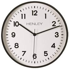 HENLEY - 30CM PLASTIC WALL CLOCK - BLACK