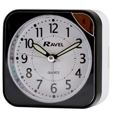 RAVEL - SQUARE TRAVEL ALARM CLOCK - BLACK