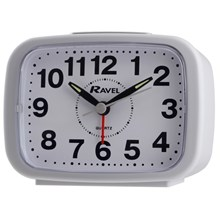 RAVEL - RECTANGULAR ALARM CLOCK - WHITE