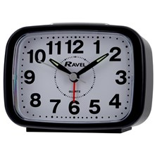 RAVEL - RECTANGULAR ALARM CLOCK - BLACK