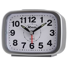 RAVEL - RECTANGULAR ALARM CLOCK - SILVER