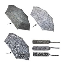 LADIES SUPERMINI UMBRELLA - ANIMAL PRINTS - 3ASST