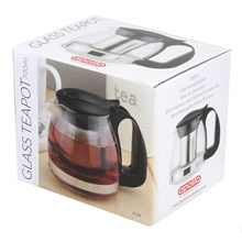 APOLLO - GLASS TEAPOT WITH STRAINER 600ML