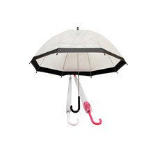 RIB DOME 58CM TRANSPARENT UMBRELLA - 2 ASST