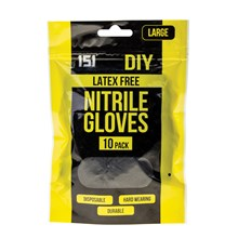 151 - BLACK NITRILE GLOVES LARGE - 10 PACK
