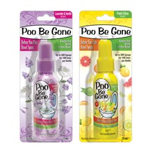 POO BE GONE TOILET SPRAY AIR FRESHENER 55ML -2ASST
