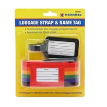 MARKSMAN - LUGGAGE STRAPE AND TAG SET