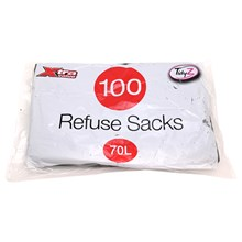 TIDYZ - 70L REFUSE SACKS - 100 PACK