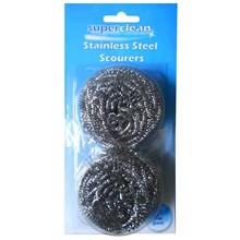 SUPERCLEAN - STAINLESS STEEL SCOURER - 2 PACK