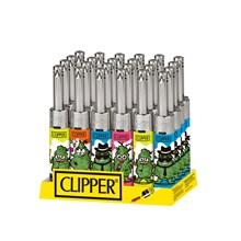 CLIPPER MINI TUBE LIGHTER - LEAVES 10 - 24 PACK