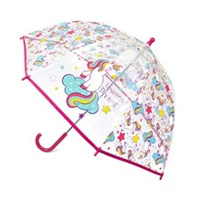 KID CLEAR DOME UMBRELLA - UNICORN