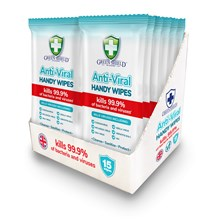 GREEN SHIELD - ANTI-VIRAL HANDY WIPES - 15PACK