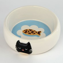 CERAMIC PET FOOD BOWL - FELINE CAT